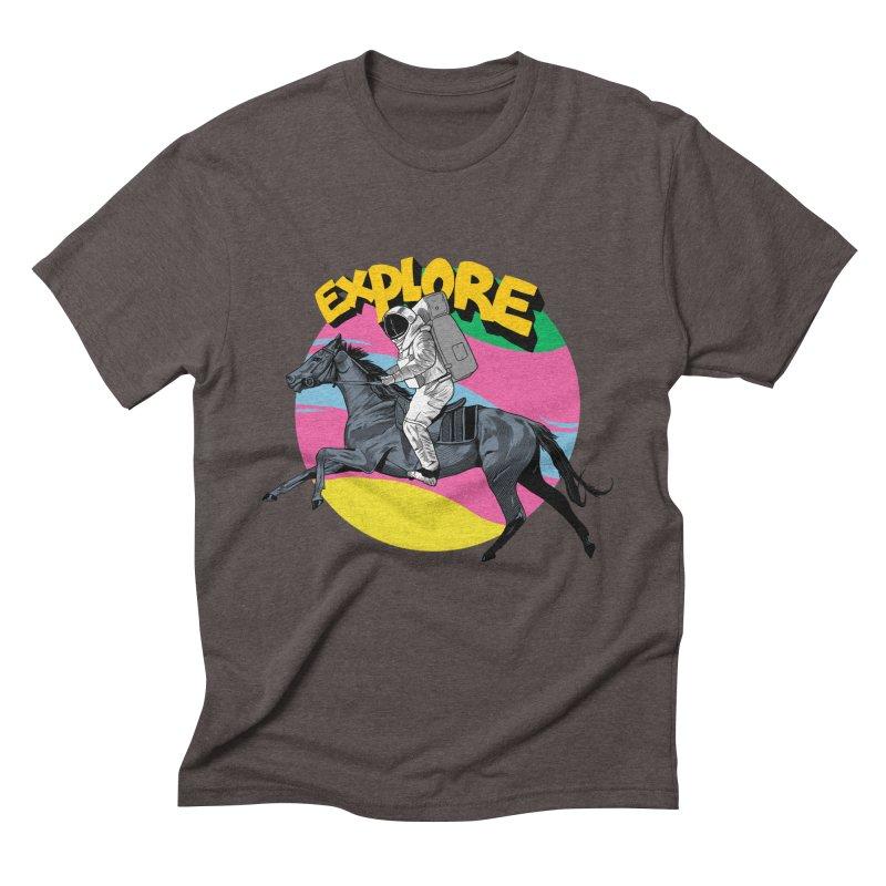 Space Rider Men's Triblend T-Shirt by RJ Artworks's Artist Shop