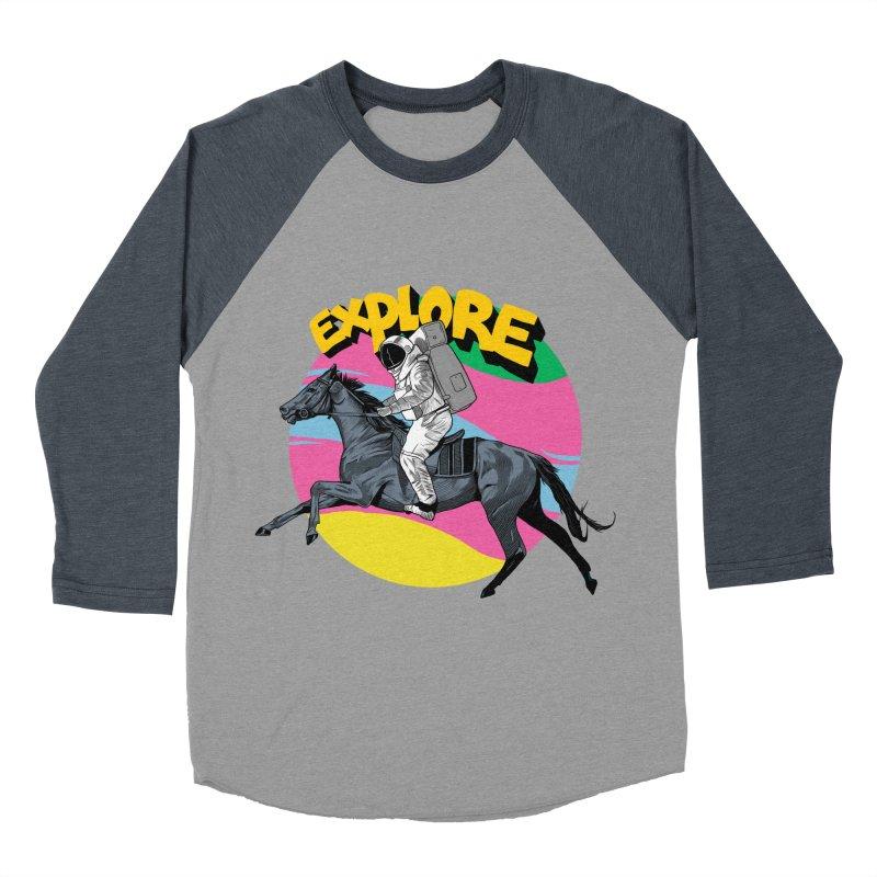 Space Rider Women's Baseball Triblend Longsleeve T-Shirt by RJ Artworks's Artist Shop