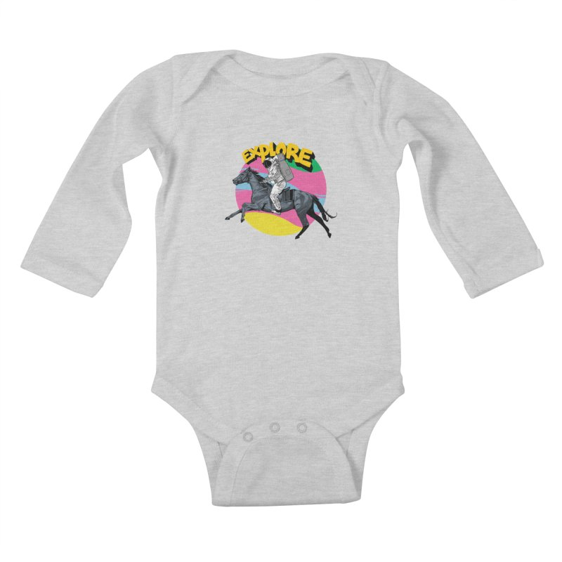 Space Rider Kids Baby Longsleeve Bodysuit by RJ Artworks's Artist Shop