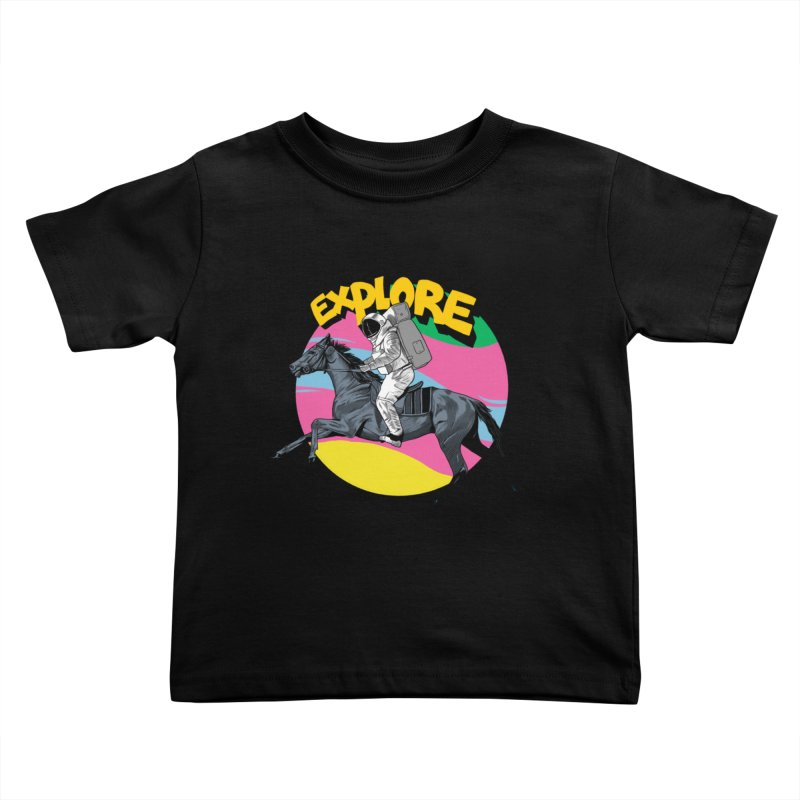 Space Rider Kids Toddler T-Shirt by RJ Artworks's Artist Shop