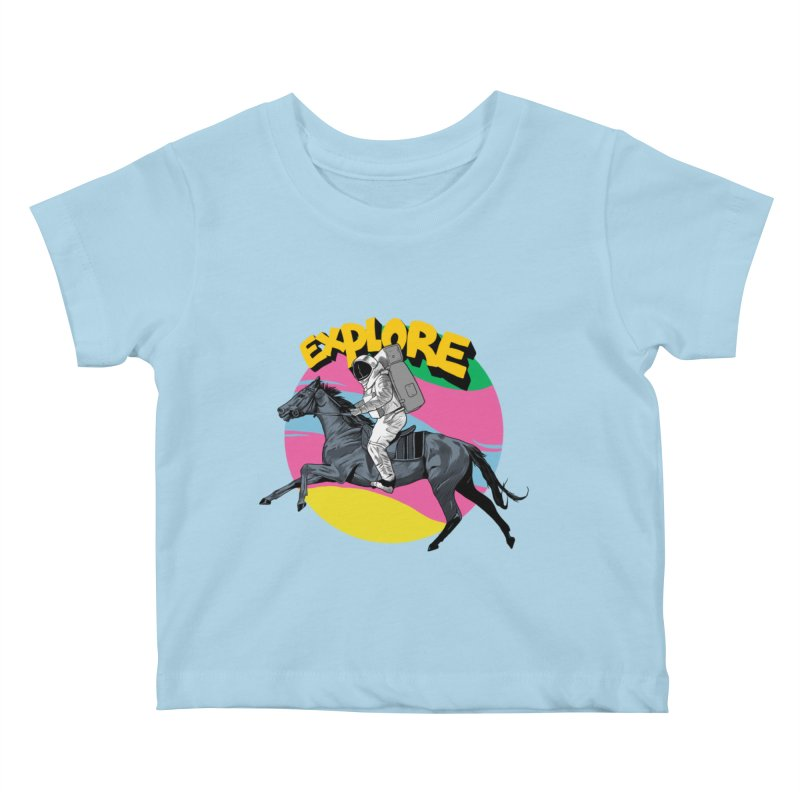 Space Rider Kids Baby T-Shirt by RJ Artworks's Artist Shop