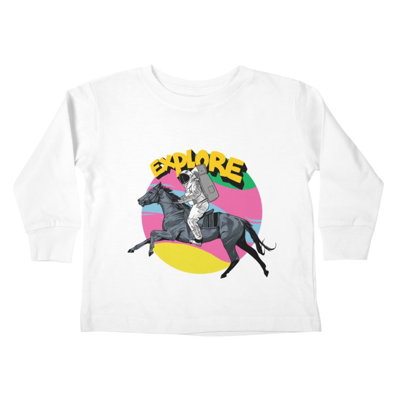 Space Rider Kids Toddler Longsleeve T-Shirt by RJ Artworks's Artist Shop