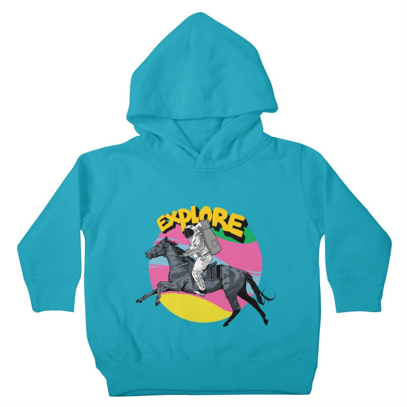 Space Rider Kids Toddler Pullover Hoody by RJ Artworks's Artist Shop