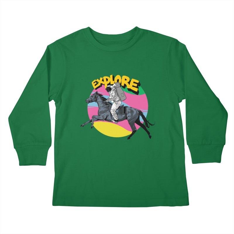 Space Rider Kids Longsleeve T-Shirt by RJ Artworks's Artist Shop