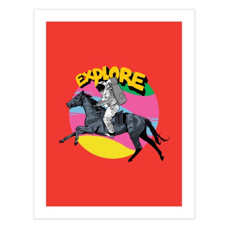 Space Rider Home Fine Art Print by RJ Artworks's Artist Shop