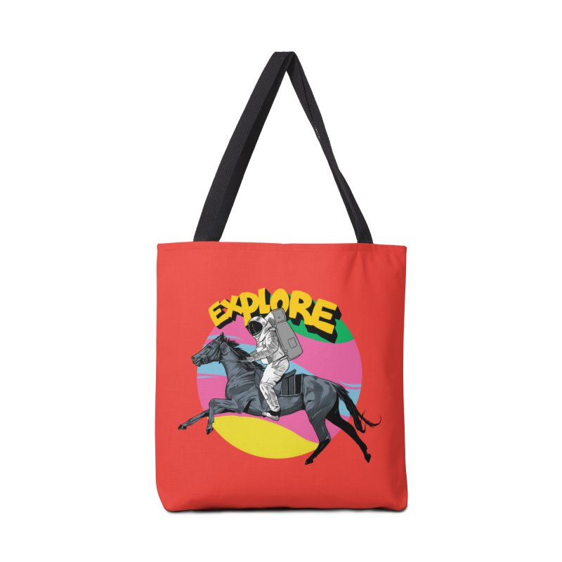 Space Rider Accessories Tote Bag Bag by RJ Artworks's Artist Shop