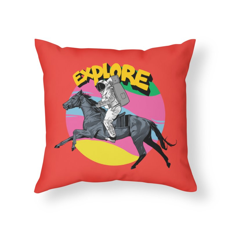 Space Rider Home Throw Pillow by RJ Artworks's Artist Shop