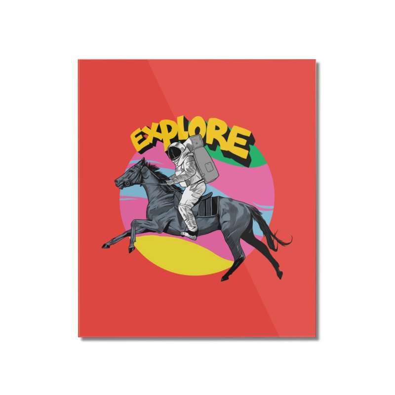 Space Rider Home Mounted Acrylic Print by RJ Artworks's Artist Shop