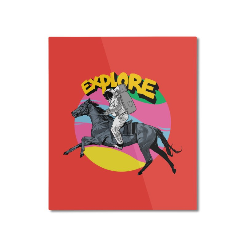 Space Rider Home Mounted Aluminum Print by RJ Artworks's Artist Shop