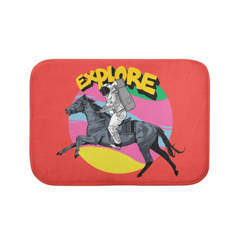 Space Rider Home Bath Mat by RJ Artworks's Artist Shop