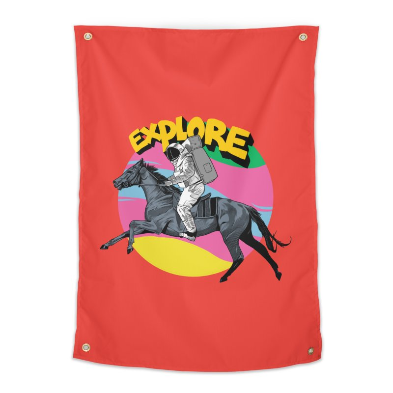 Space Rider Home Tapestry by RJ Artworks's Artist Shop
