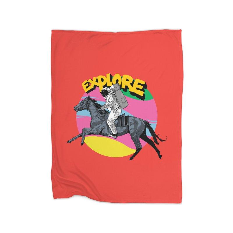 Space Rider Home Fleece Blanket Blanket by RJ Artworks's Artist Shop