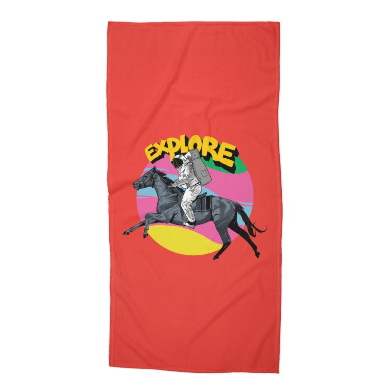 Space Rider Accessories Beach Towel by RJ Artworks's Artist Shop
