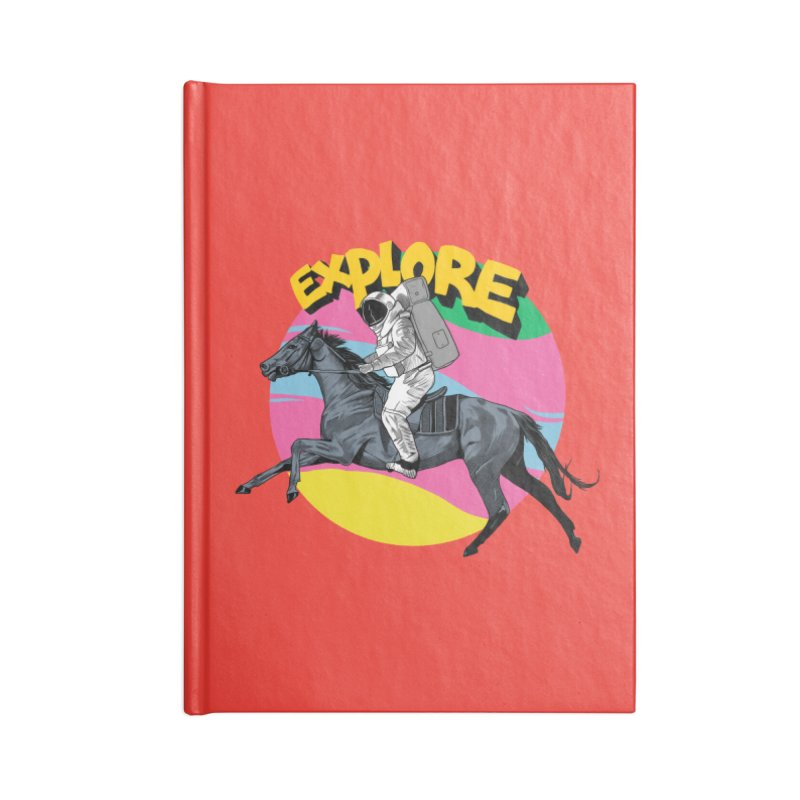 Space Rider Accessories Lined Journal Notebook by RJ Artworks's Artist Shop