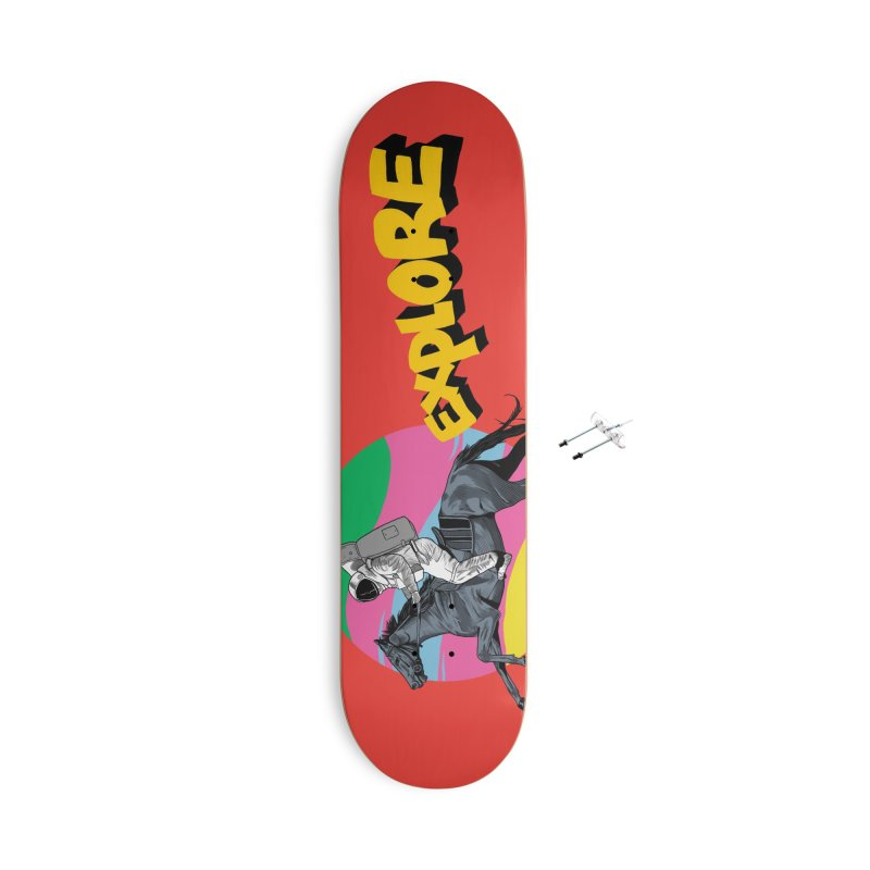 Space Rider Accessories With Hanging Hardware Skateboard by RJ Artworks's Artist Shop
