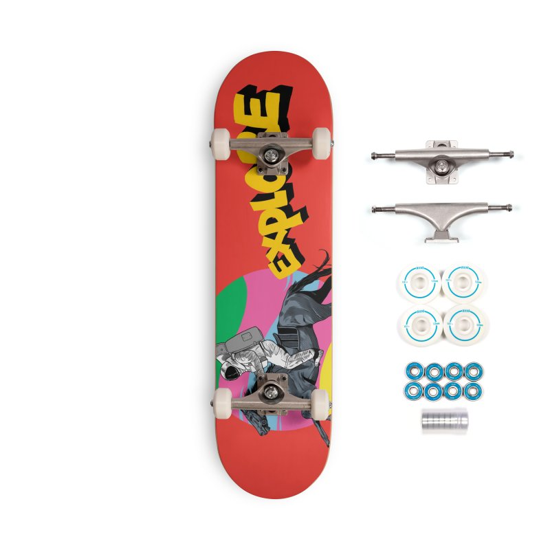 Space Rider Accessories Complete - Basic Skateboard by RJ Artworks's Artist Shop