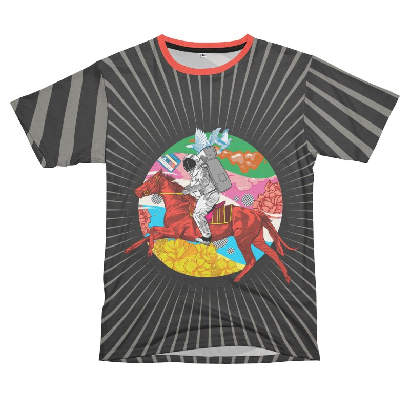 Psychedelic Space Journey Men's French Terry T-Shirt Cut & Sew by RJ Artworks's Artist Shop