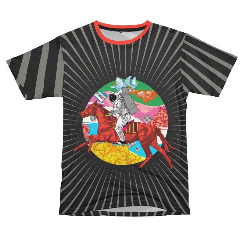 Psychedelic Space Journey Men's T-Shirt Cut & Sew by RJ Artworks's Artist Shop
