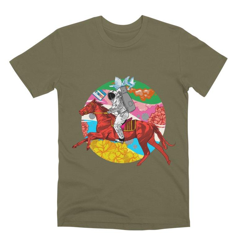 Psychedelic Space Journey Men's Premium T-Shirt by RJ Artworks's Artist Shop