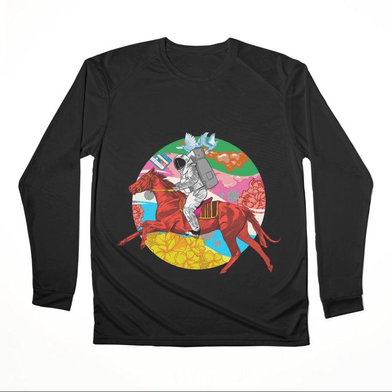 Psychedelic Space Journey Women's Performance Unisex Longsleeve T-Shirt by RJ Artworks's Artist Shop