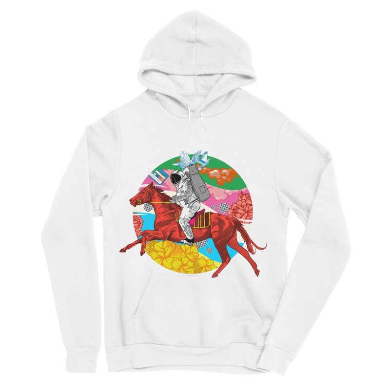 Psychedelic Space Journey Women's Sponge Fleece Pullover Hoody by RJ Artworks's Artist Shop