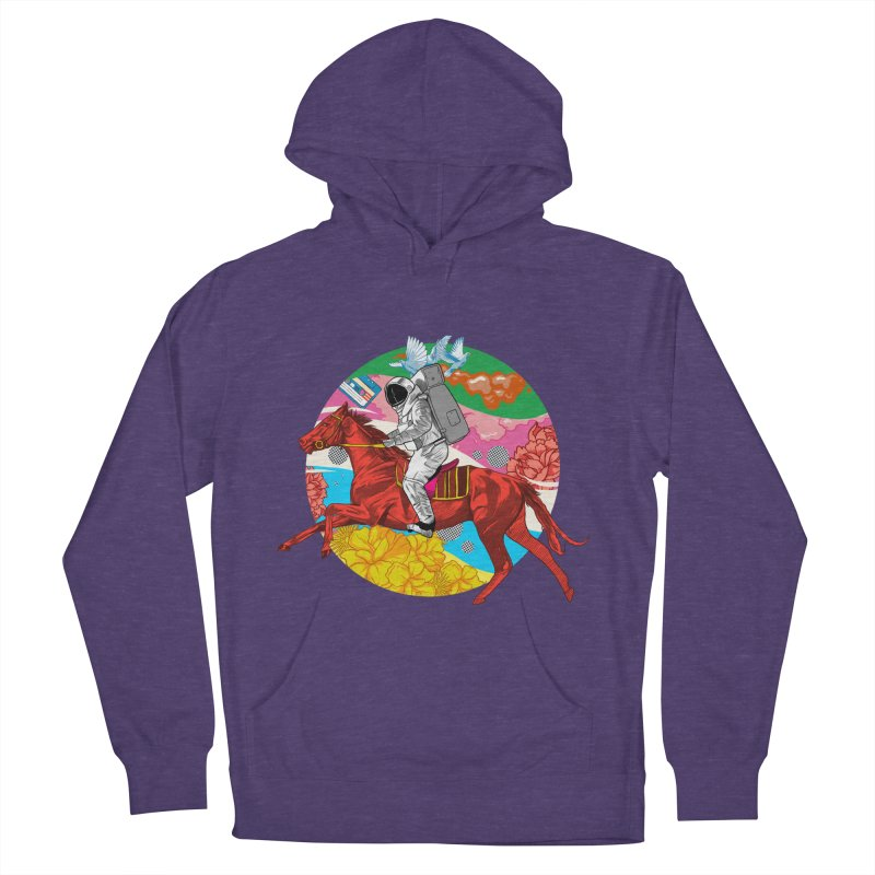 Psychedelic Space Journey Women's French Terry Pullover Hoody by RJ Artworks's Artist Shop