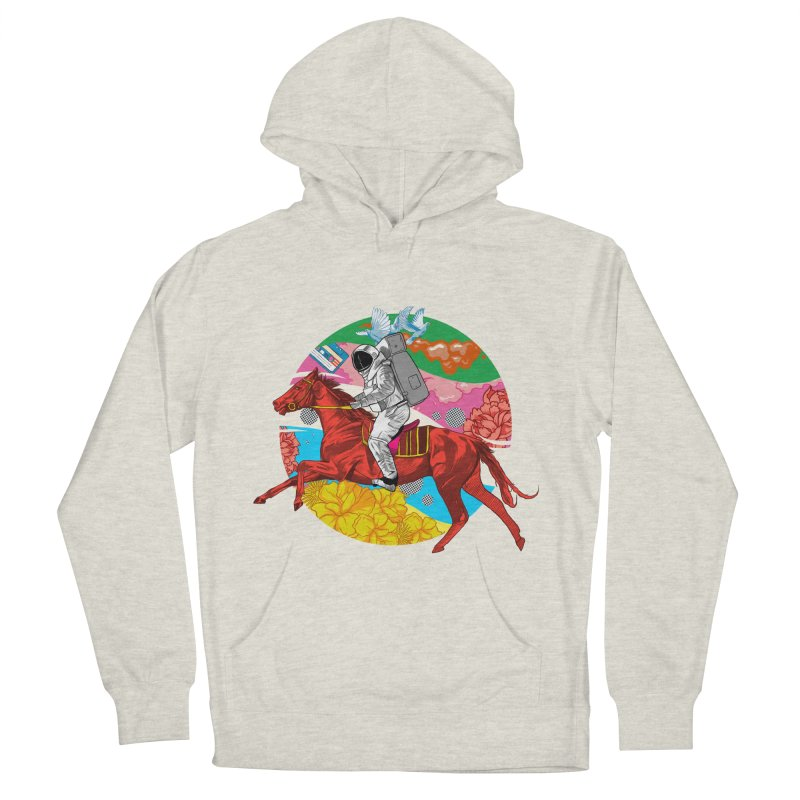 Psychedelic Space Journey Men's French Terry Pullover Hoody by RJ Artworks's Artist Shop