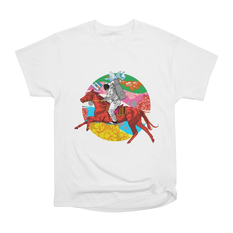 Psychedelic Space Journey Women's Heavyweight Unisex T-Shirt by RJ Artworks's Artist Shop