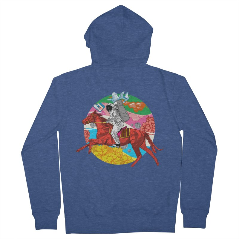 Psychedelic Space Journey Women's French Terry Zip-Up Hoody by RJ Artworks's Artist Shop