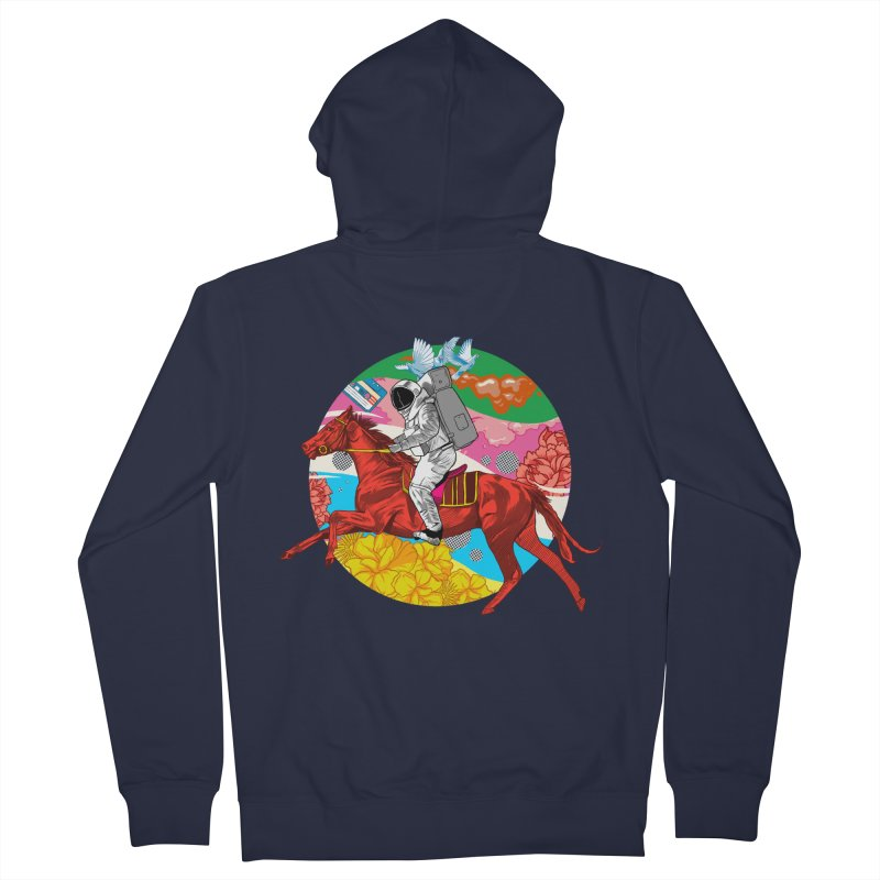 Psychedelic Space Journey Men's French Terry Zip-Up Hoody by RJ Artworks's Artist Shop