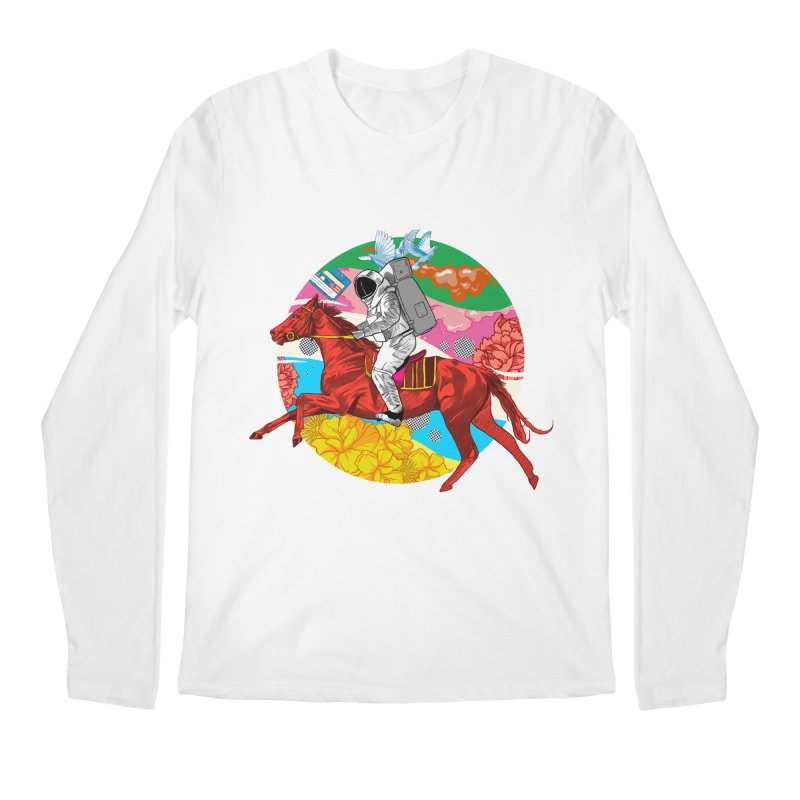 Psychedelic Space Journey Men's Regular Longsleeve T-Shirt by RJ Artworks's Artist Shop