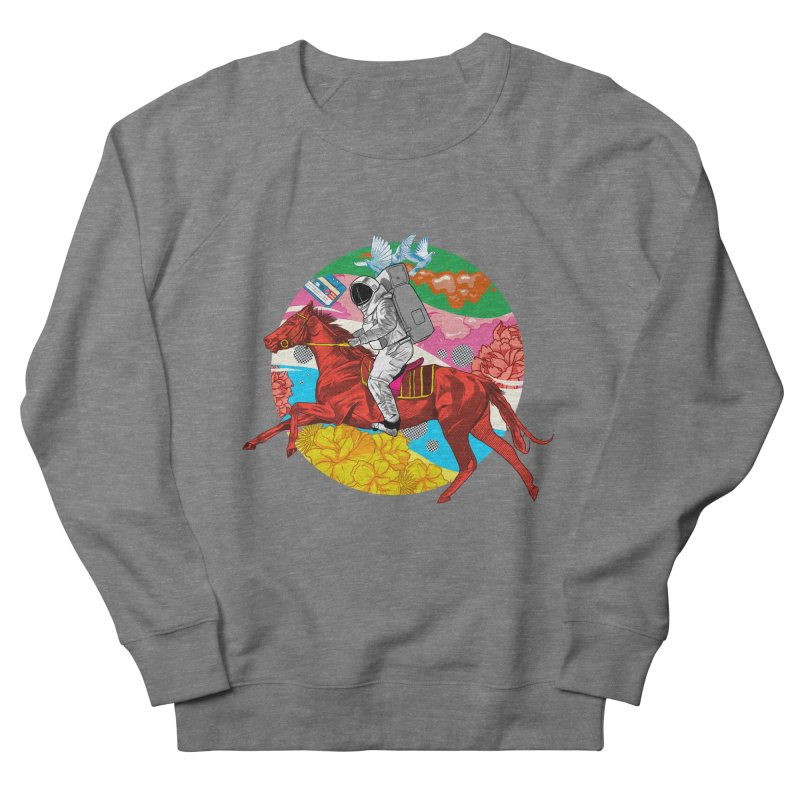 Psychedelic Space Journey Women's French Terry Sweatshirt by RJ Artworks's Artist Shop