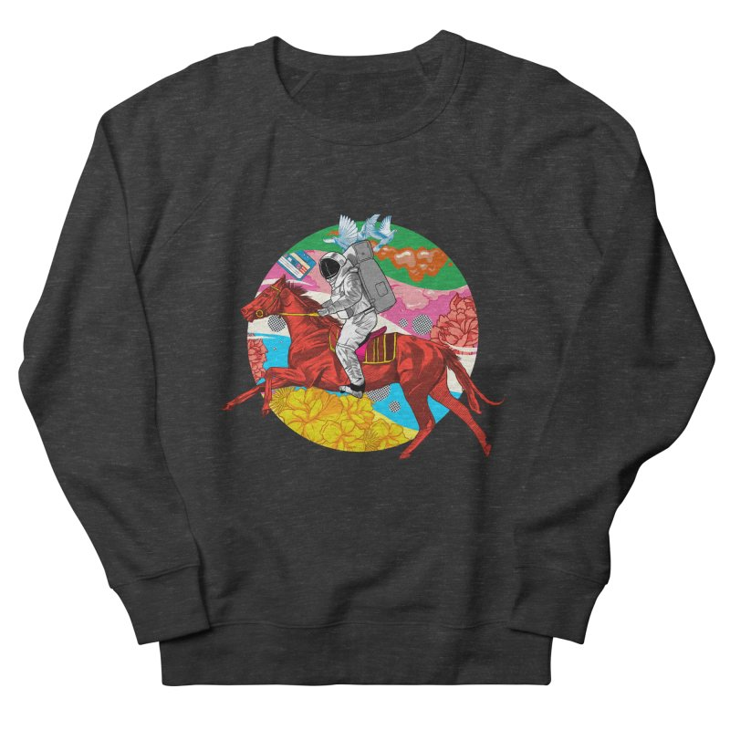 Psychedelic Space Journey Men's French Terry Sweatshirt by RJ Artworks's Artist Shop