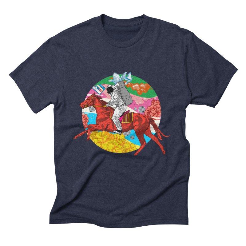 Psychedelic Space Journey Men's Triblend T-Shirt by RJ Artworks's Artist Shop