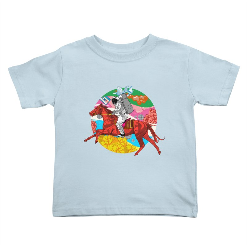Psychedelic Space Journey Kids Toddler T-Shirt by RJ Artworks's Artist Shop