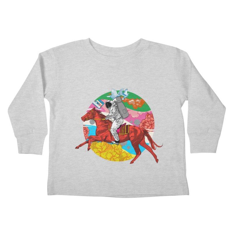 Psychedelic Space Journey Kids Toddler Longsleeve T-Shirt by RJ Artworks's Artist Shop