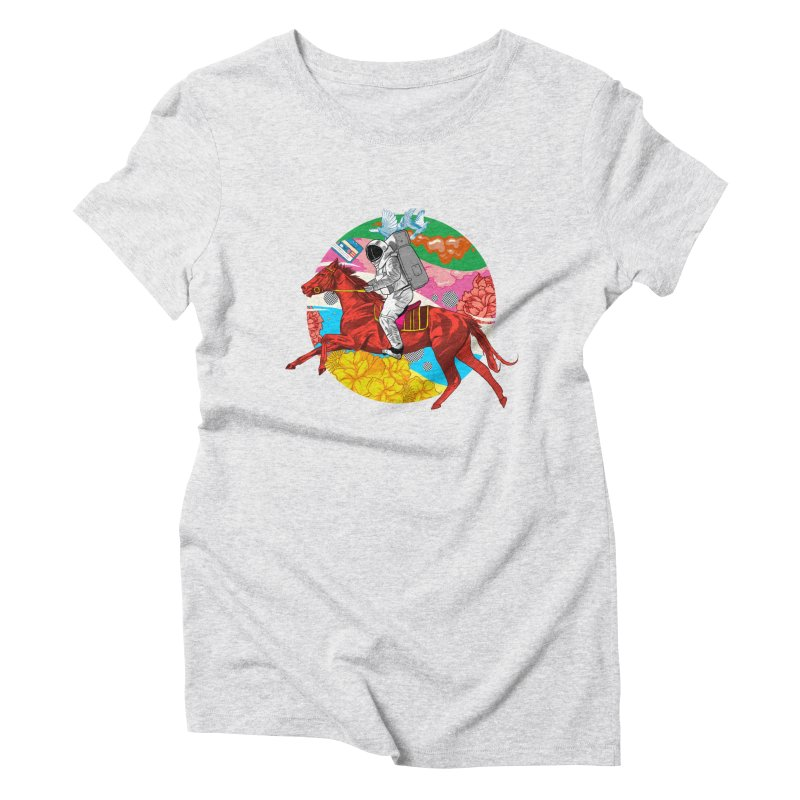 Psychedelic Space Journey Women's Triblend T-Shirt by RJ Artworks's Artist Shop