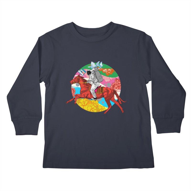 Psychedelic Space Journey Kids Longsleeve T-Shirt by RJ Artworks's Artist Shop