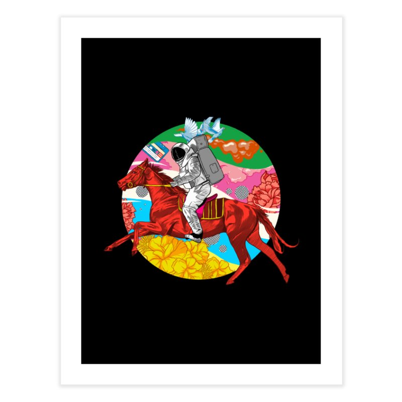 Psychedelic Space Journey Home Fine Art Print by RJ Artworks's Artist Shop
