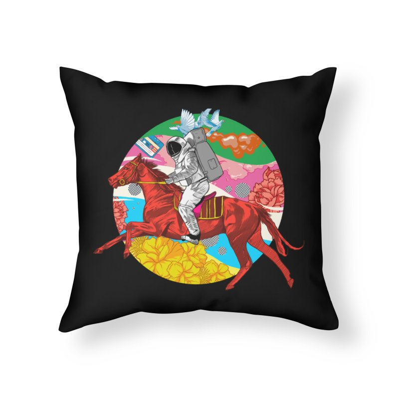 Psychedelic Space Journey Home Throw Pillow by RJ Artworks's Artist Shop