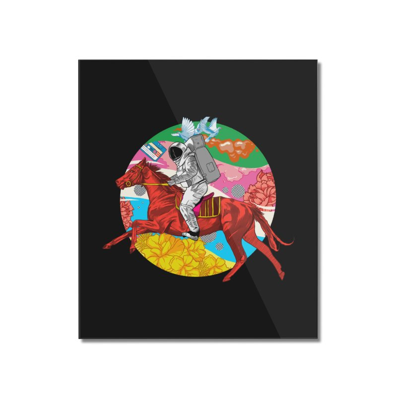 Psychedelic Space Journey Home Mounted Acrylic Print by RJ Artworks's Artist Shop