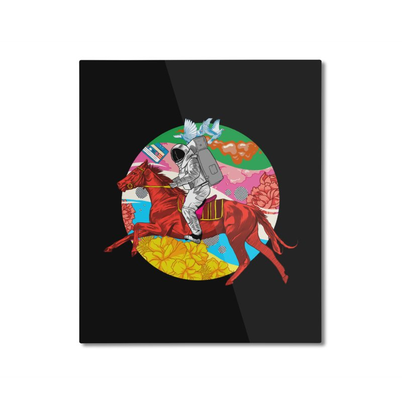 Psychedelic Space Journey Home Mounted Aluminum Print by RJ Artworks's Artist Shop
