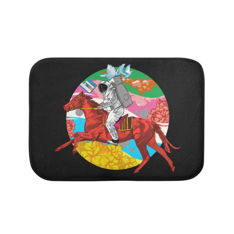 Psychedelic Space Journey Home Bath Mat by RJ Artworks's Artist Shop
