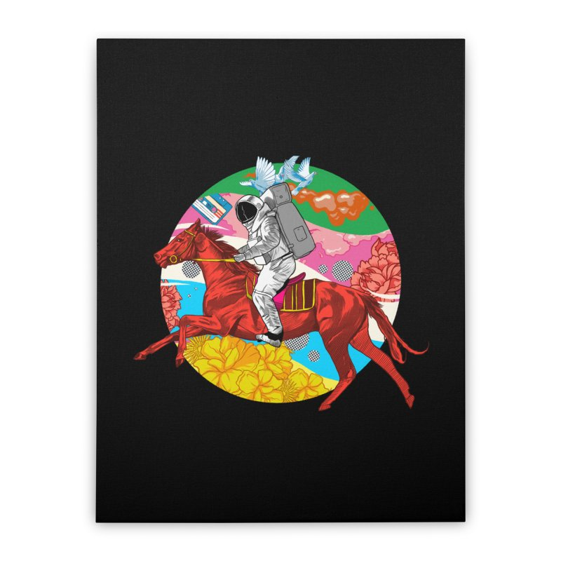 Psychedelic Space Journey Home Stretched Canvas by RJ Artworks's Artist Shop