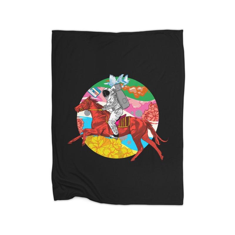 Psychedelic Space Journey Home Fleece Blanket Blanket by RJ Artworks's Artist Shop