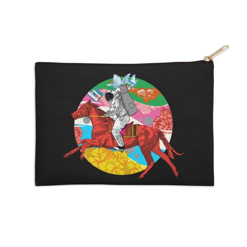 Psychedelic Space Journey Accessories Zip Pouch by RJ Artworks's Artist Shop