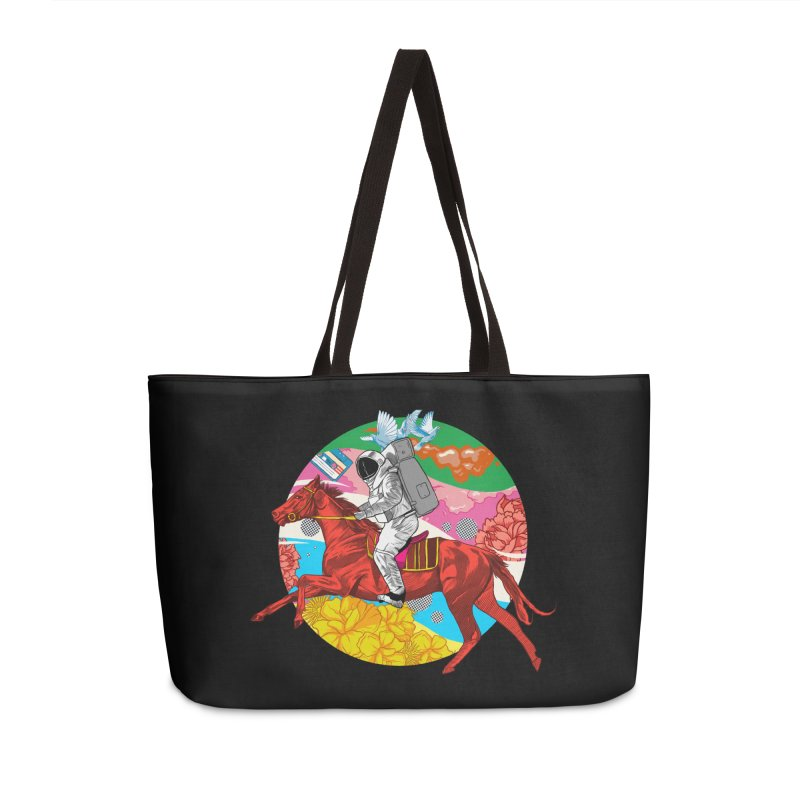 Psychedelic Space Journey Accessories Weekender Bag Bag by RJ Artworks's Artist Shop
