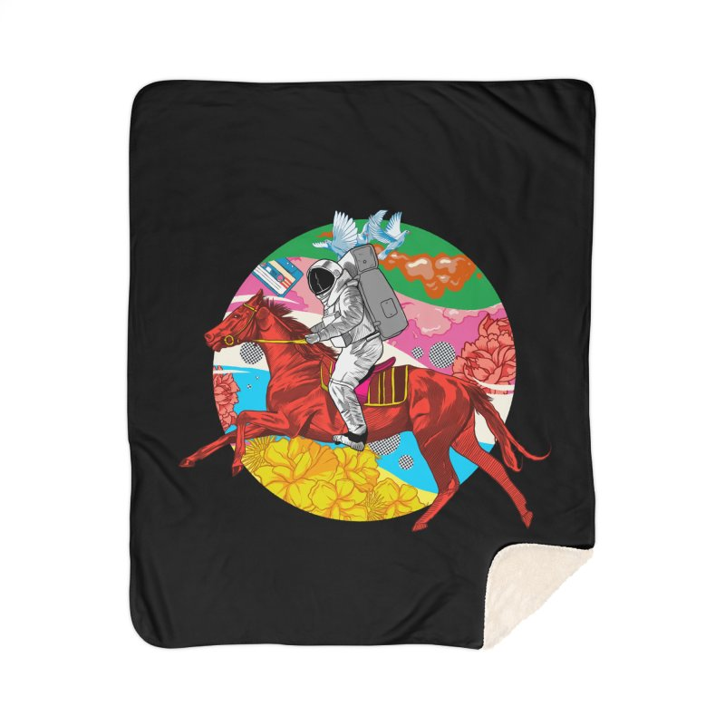 Psychedelic Space Journey Home Sherpa Blanket Blanket by RJ Artworks's Artist Shop
