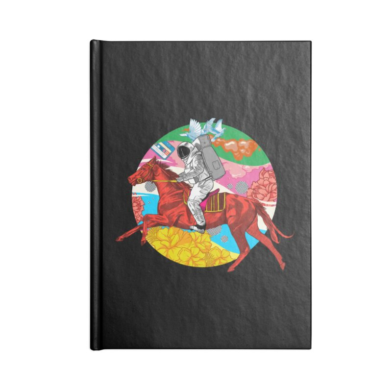 Psychedelic Space Journey Accessories Lined Journal Notebook by RJ Artworks's Artist Shop
