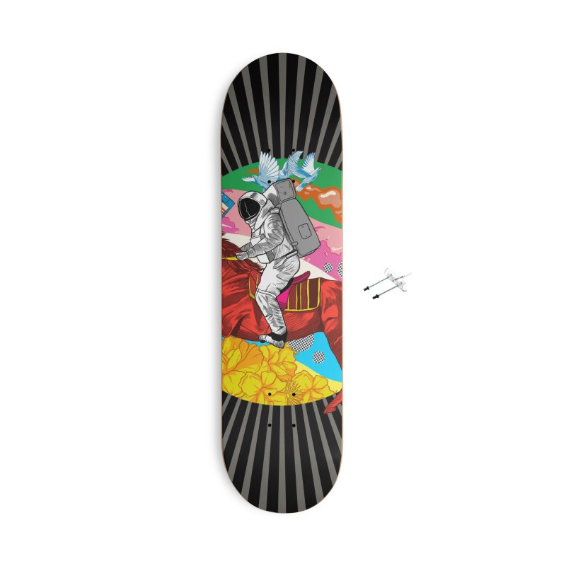 Psychedelic Space Journey Accessories With Hanging Hardware Skateboard by RJ Artworks's Artist Shop